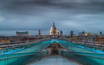 bridge, london, england, millennium bridge, millenium bridge
