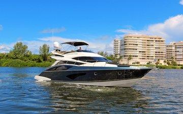 landscape, sea, yacht