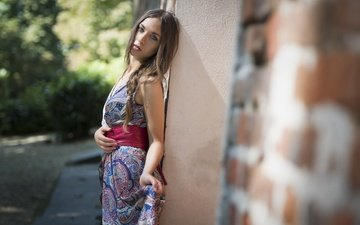 dress, summer, look, model, anna