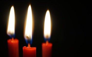 candles, flame, fire, black background