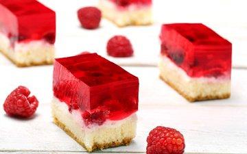 малина, сладкое, 1, десерт, бисквит, желе, пирожное, крем