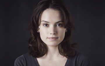 girl, look, hair, face, daisy ridley
