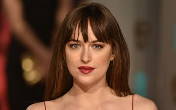 girl, look, hair, face, dakota johnson