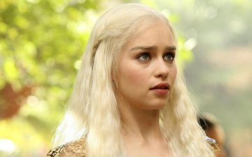 girl, look, hair, face, actress, game of thrones, emilia clarke, daenerys targaryen
