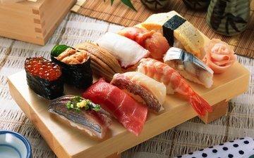 рыба, икра, суши, роллы, морепродукты, японская кухня, ассорти
