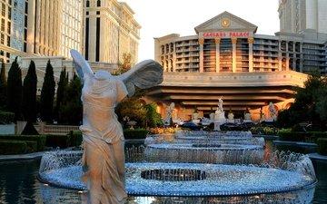 city, fountain, usa, las vegas, caesars palace