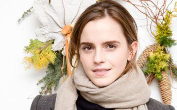 girl, branches, look, model, face, actress, bumps, emma watson, scarf
