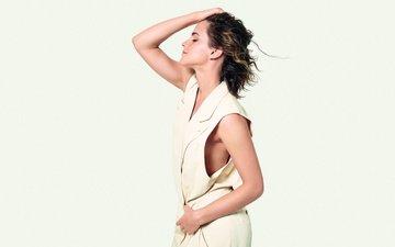girl, look, model, profile, face, actress, emma watson, closed eyes
