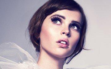 girl, look, hair, face, actress, makeup, felicity jones