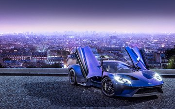 the city, car, ford, concept