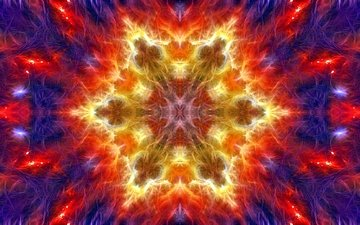 abstraction, pattern, color, form, fractal, kaleidoscope