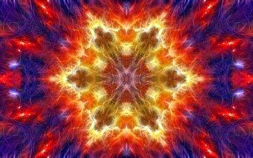 абстракция, узор, цвет, форма, фрактал, калейдоскоп