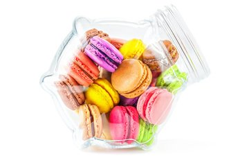 white background, bank, cookies, dessert, macaroon, macaroons