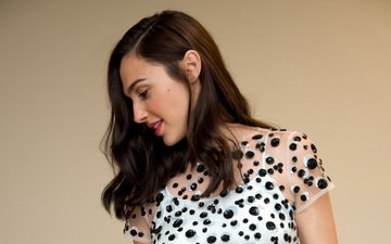 girl, look, model, profile, hair, face, actress, gal gadot
