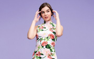 girl, dress, look, hair, face, actress, singer, hailee steinfeld, haley steinfeld