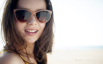 girl, smile, look, hair, face, actress, singer, hailee steinfeld, sunglasses, haley steinfeld
