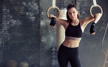 girl, look, hair, face, actress, singer, photoshoot, fitness, the gym, hailee steinfeld, haley steinfeld