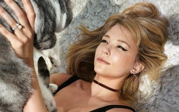 girl, cat, look, hair, face, actress, haley bennett