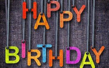 буквы, ткань, полотно, текст, праздник, день рождения