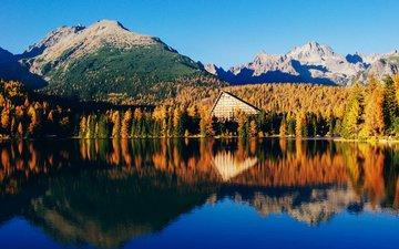 lake, mountains, nature, forest, reflection, landscape, autumn, aleksandra boguslawska