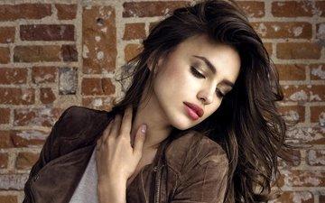 девушка, портрет, взгляд, модель, губы, лицо, фотосессия, ирина шейк