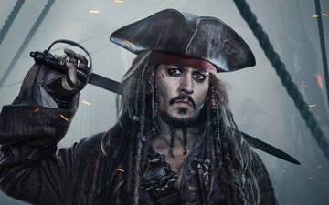 актёр, джони депп, пираты карибского моря, джек воробей, капитан