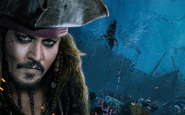 actor, johnny depp, pirates of the caribbean, jack sparrow, captain