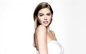 взгляд, модель, губы, лицо, длинные волосы, знаменитость, кейт аптон, голые плечи