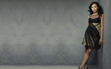 девушка, платье, брюнетка, взгляд, модель, волосы, лицо, актриса, певица, знаменитость, kat graham, катерина грэхэм