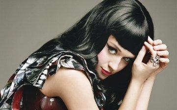 девушка, портрет, брюнетка, взгляд, волосы, лицо, певица, макияж, кэти перри, кети перри