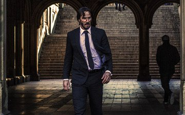 look, actor, the film, face, keanu reeves, john wick
