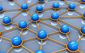 balls, background, network, cell, 3d