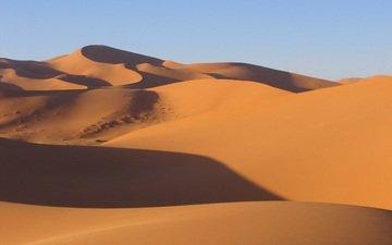 пейзаж, песок, пустыня, дюны, марокко