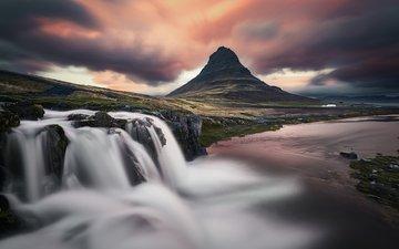 река, природа, водопад, вулкан, исландия, etienne ruff