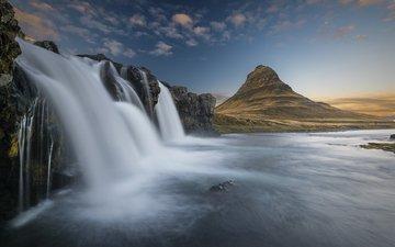 река, природа, гора, водопад, вулкан, исландия, etienne ruff