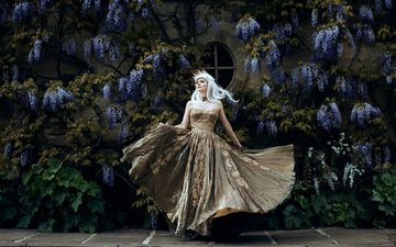 flowers, girl, dress, creative, princess, wisteria, bella kotak