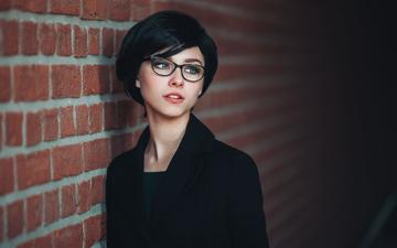 eyes, girl, portrait, glasses, model, hair, face, alice, hairstyle, photoshoot, ivan proskurin, alisa tarasenko