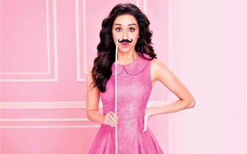 style, girl, dress, mustache, model, actress, celebrity, bollywood, indian, shraddha kapoor, sraddha kapoor