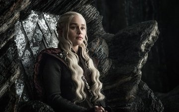 game of thrones, emilia clarke, daenerys targaryen, throne room, dragonstone