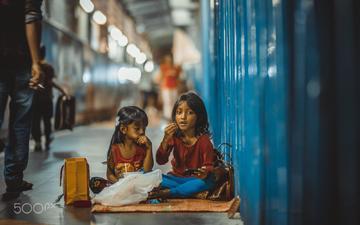 взгляд, дети, улица, девочки, efemir art
