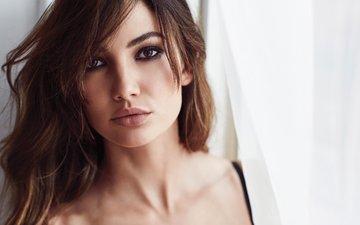 girl, portrait, look, model, lips, face, lily aldridge