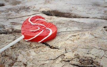 heart, sweets, love, candy, lollipop
