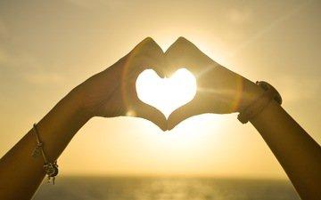 восход, часы, сердце, любовь, руки, браслет