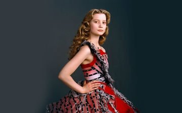 girl, dress, look, hair, face, actress, mia wasikowska, photoshoot