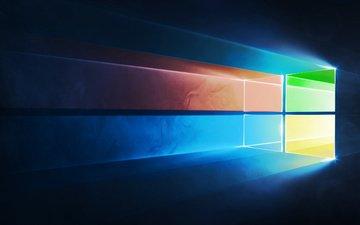 цвета, фон, логотип, майкрософт, винда, windows 10