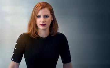 girl, look, red, hair, lips, face, actress, makeup, jessica chastain