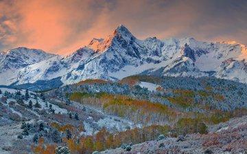 горы, природа, зима, долина, скалистые горы, даллас, штат колорадо, kevin mcneal