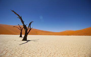 небо, песок, пустыня, дюны, намибия