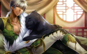 anime, panther, asian, oriental, black panther, bachou, juuzaengi, juuzaengi engetsu sangokuden