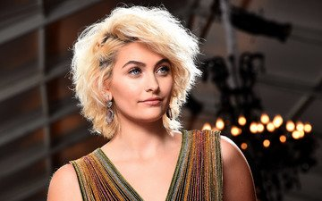 girl, blonde, look, model, hair, face, paris jackson